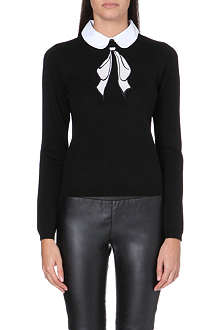 ALICE & OLIVIA Ribbon bow sweater