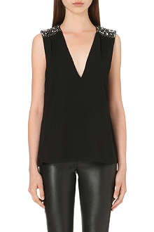 ALICE & OLIVIA Embellished shoulder top