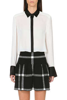 ALICE & OLIVIA Cropped button down shirt
