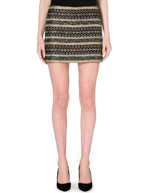 ALICE & OLIVIA Neville brocade skirt