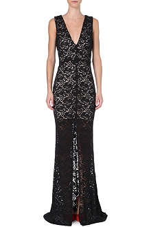 ALICE & OLIVIA Long-length lace gown
