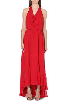 ALICE & OLIVIA Draped chiffon dress