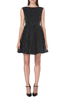 ALICE & OLIVIA Pearl drop flared dress