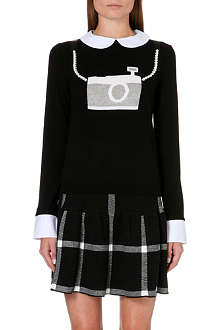 ALICE & OLIVIA Camera wool-blend jumper