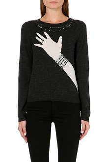 ALICE & OLIVIA Knitted hand-with-ring jumper