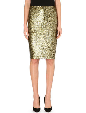 ALICE & OLIVIA Bryce sequin pencil skirt
