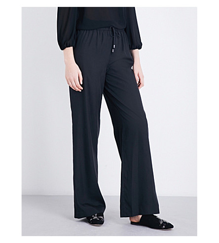 ALICE & OLIVIA Benny mid-rise stretch-jersey trousers (Black