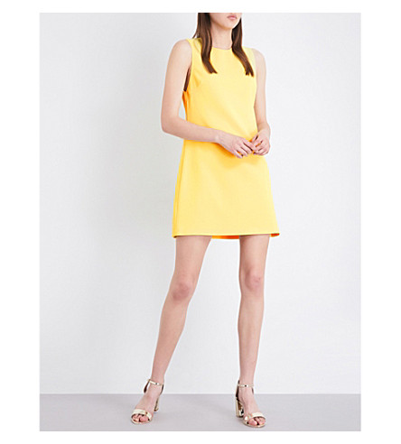 ALICE & OLIVIA Coley crepe mini dress (Lemon