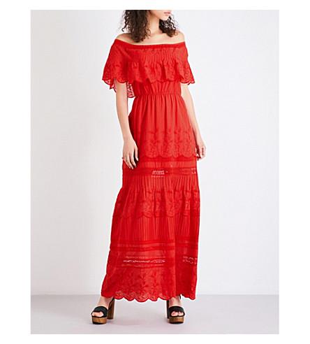 ALICE & OLIVIA Pansy cotton-voile dress (Poppy
