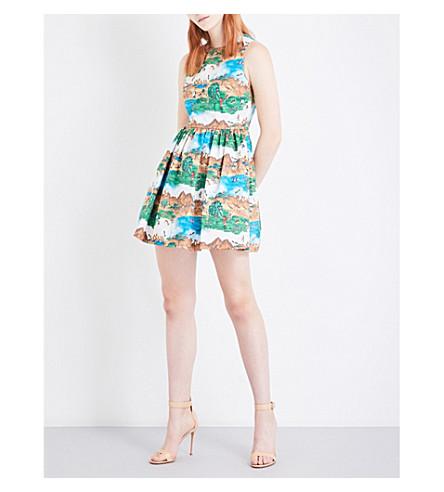 ALICE & OLIVIA Joyce stretch-cotton mini dress (Safari+land