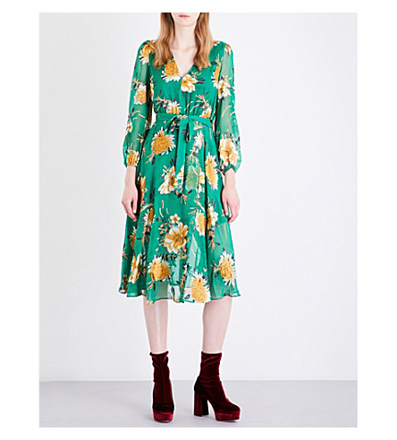 ALICE & OLIVIA Coco silk-blend dress (Ivy+multi