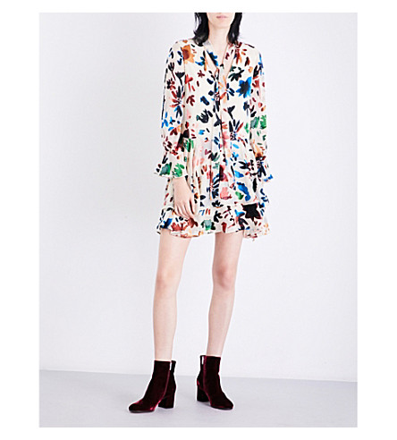 ALICE & OLIVIA Moore devoré mini dress (Prisma+floral+burnout