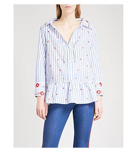 ALICE & OLIVIA Ashlyn cotton shirt (Black/white/multi