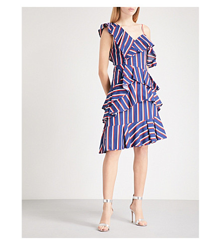 ALICE & OLIVIA Laflora off-the-shoulder cotton dress (Collegiate+stripe