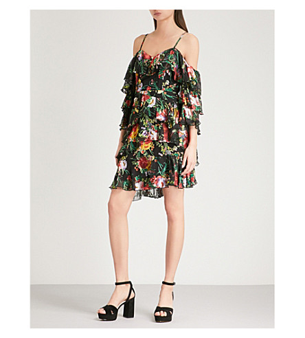 ALICE & OLIVIA Florentina cold-shoulder floral-jacquard dress (Blooming+bouquet