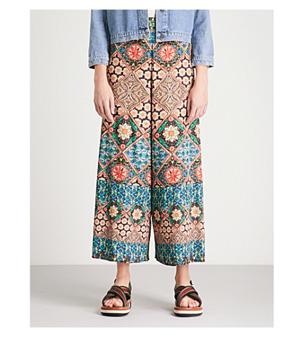 ALICE & OLIVIA Sherice wide legged embroidered trousers (Renzo+tile