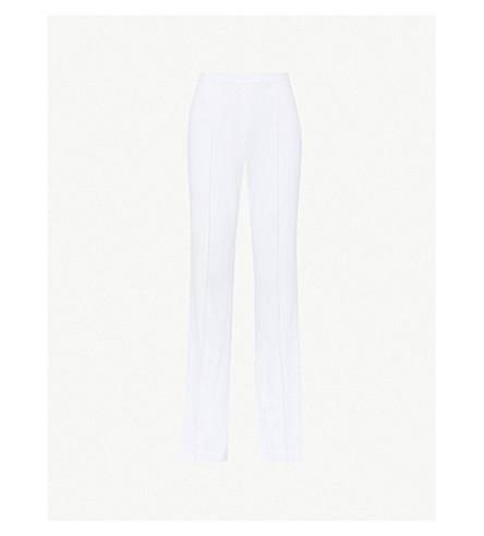 ALICE & OLIVIA Jalisa flared crepe pants (White