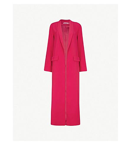 ALICE & OLIVIA Angela shawl-lapel crepe coat (Raspberry