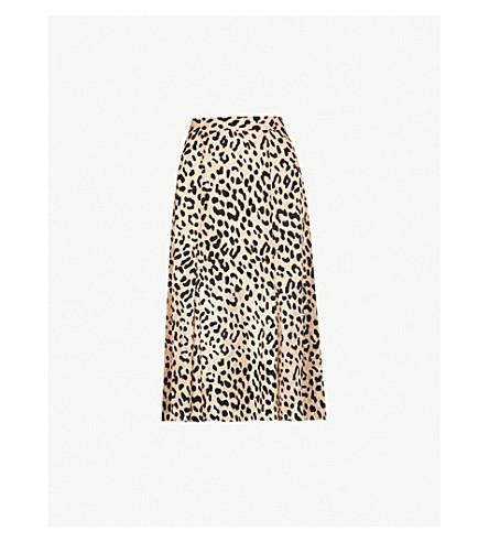 ALICE & OLIVIA Athena leopard-print devoré skirt (Leopard-sand