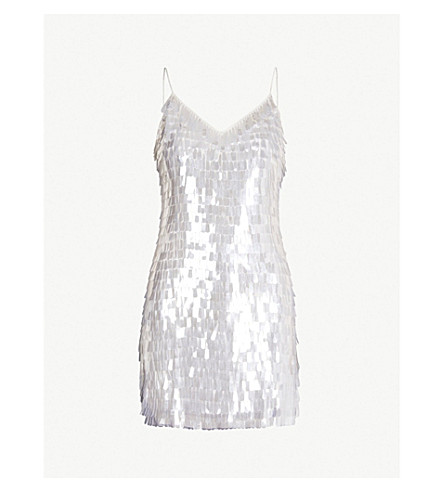 ALICE & OLIVIA Contessa sequinned mini slip dress (Offwht/clr