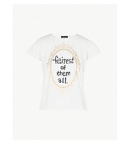 ALICE & OLIVIA Alice + Olivia x Disney Robin cotton-jersey T-shirt (White/multi