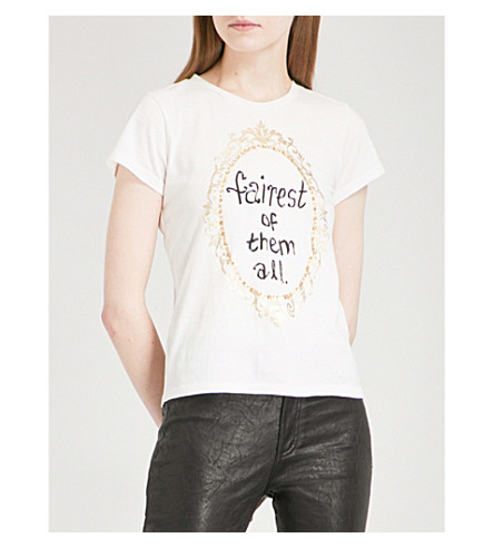 ALICE & OLIVIA Alice + Olivia x Disney Robin cotton-jersey T-shirt (White/multi