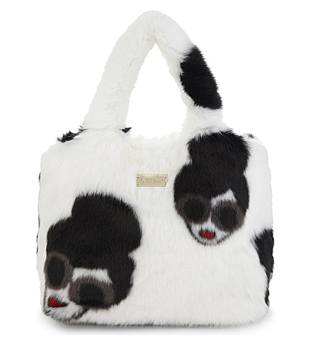 ALICE & OLIVIA Willow faux-fur tote bag (White