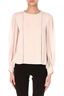 ALICE & OLIVIA Liv pleated blouse
