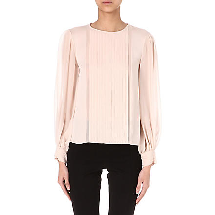 ALICE & OLIVIA Liv pleated blouse (Blush