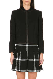ALICE & OLIVIA Cropped knitted jacket