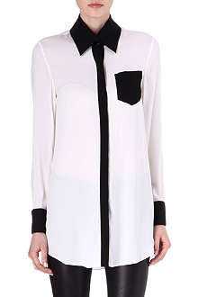 ALICE & OLIVIA Contrast-collar shirt