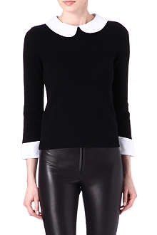 ALICE & OLIVIA Detachable-collar jumper