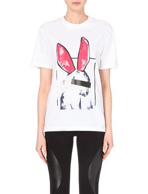 MCQ ALEXANDER MCQUEEN Rabbit-print cotton t-shirt