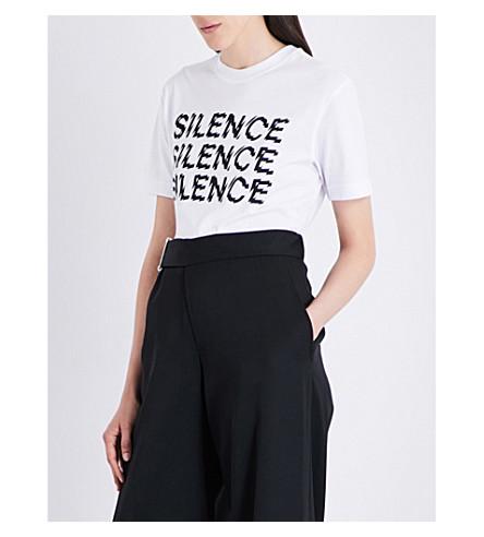 MCQ ALEXANDER MCQUEEN Silence cotton-jersey T-shirt (White