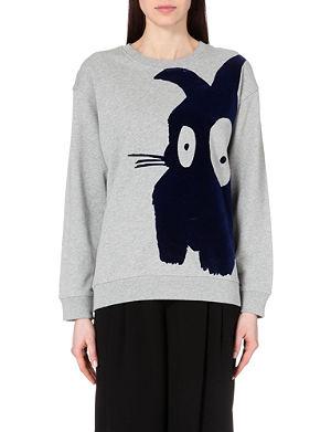 MCQ ALEXANDER MCQUEEN Classic bunny cotton-jersey sweatshirt