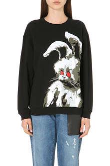 MCQ ALEXANDER MCQUEEN Angry Bunny cotton-jersey sweatshirt