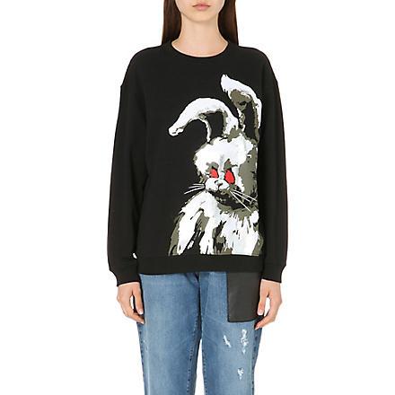 MCQ ALEXANDER MCQUEEN Angry Bunny cotton-jersey sweatshirt (Black