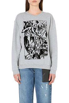 MCQ ALEXANDER MCQUEEN Manga-print cotton-jersey sweatshirt