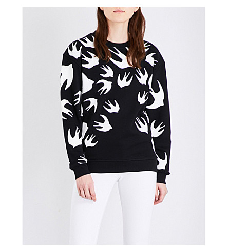 MCQ ALEXANDER MCQUEEN Classic swallow jersey sweatshirt (Black