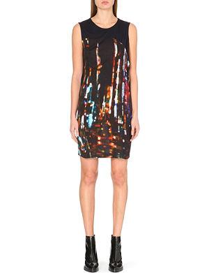 MCQ ALEXANDER MCQUEEN Abstract print jersey dress