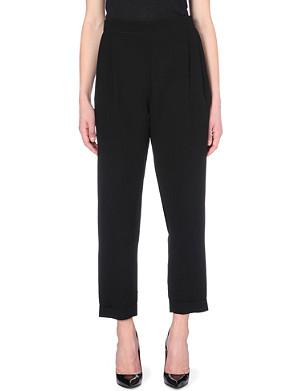 MCQ ALEXANDER MCQUEEN Slim-fit crepe trousers