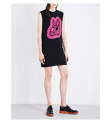 MCQ ALEXANDER MCQUEEN Bunny-print cotton-jersey dress (Black/magenta