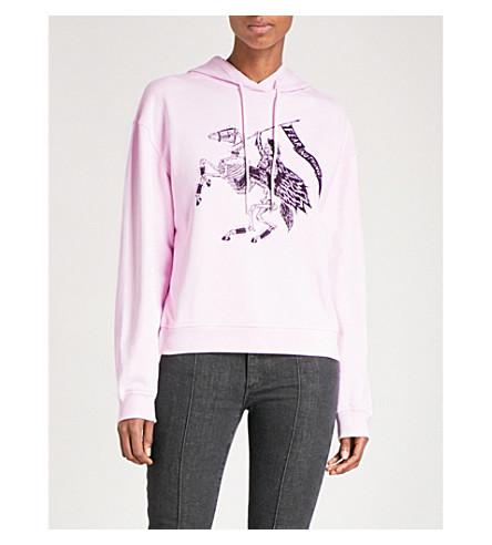 MCQ ALEXANDER MCQUEEN Rattle Doom cotton-jersey hoody (Photocopy+pink