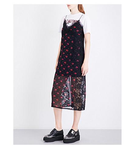 MCQ ALEXANDER MCQUEEN Floral-print silk-crepe de chine midi dress (Amp+floral