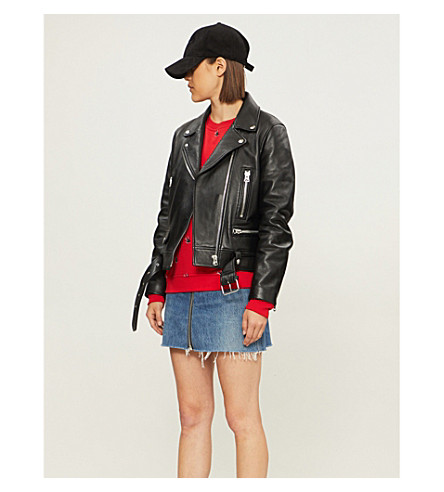 MCQ ALEXANDER MCQUEEN Swallow-print cotton-jersey sweatshirt (Riot red check