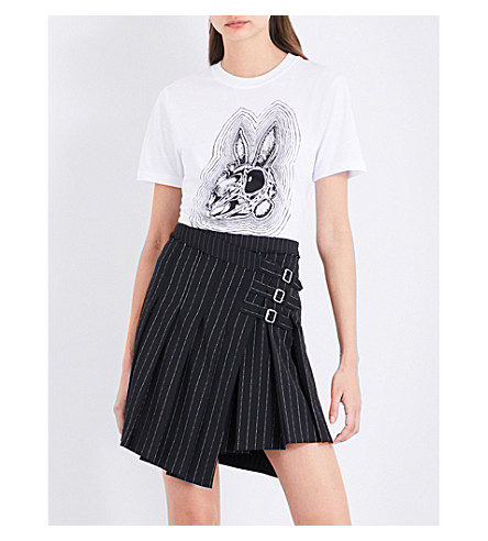 MCQ ALEXANDER MCQUEEN Bunny Be Here Now cotton-jersey T-shirt (Optic+white