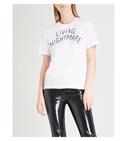 MCQ ALEXANDER MCQUEEN Living Nightmare cotton-jersey T-shirt (Optic+white