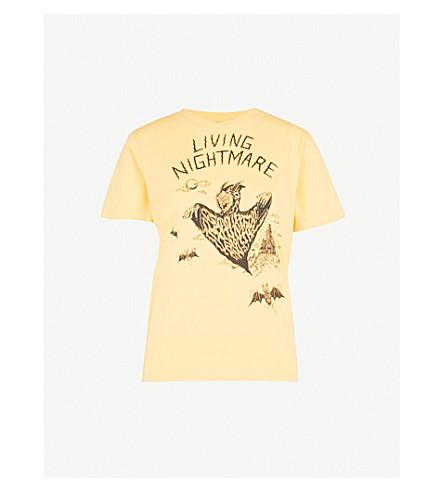MCQ ALEXANDER MCQUEEN Living Nightmare cotton-jersey T-shirt (Southern+gold