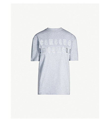 MCQ ALEXANDER MCQUEEN Boyfriend-fit cotton-jersey T-shirt (Cloud grey melange