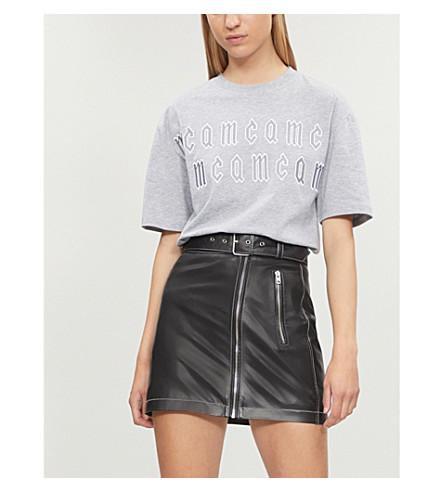 MCQ ALEXANDER MCQUEEN Boyfriend-fit cotton-jersey T-shirt (Cloud grey melange